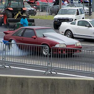 True Street to the lanes...Fun Ford Weekend at The Rock, Rockingham Dragway in NC.  12.0 index winner.