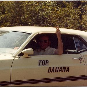 "The guys that worked for him named the car ""Top Banana"" one day as a prank, with stick on letters, and he kept them on there for two years. lol