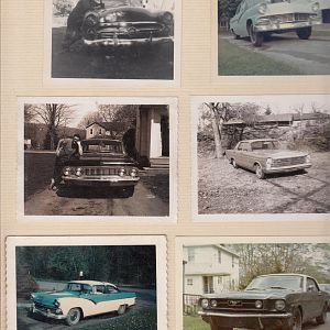 my cars from 1962 through 1971. 52 cost $15. 56 cost $50. 61 Comet was free from Dad. 65 police car - 390 3 speed on the column cost $800. The 55 Crow
